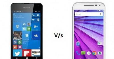 Perbandingan Motorola Moto G 2015 vs. Microsoft Lumia 650