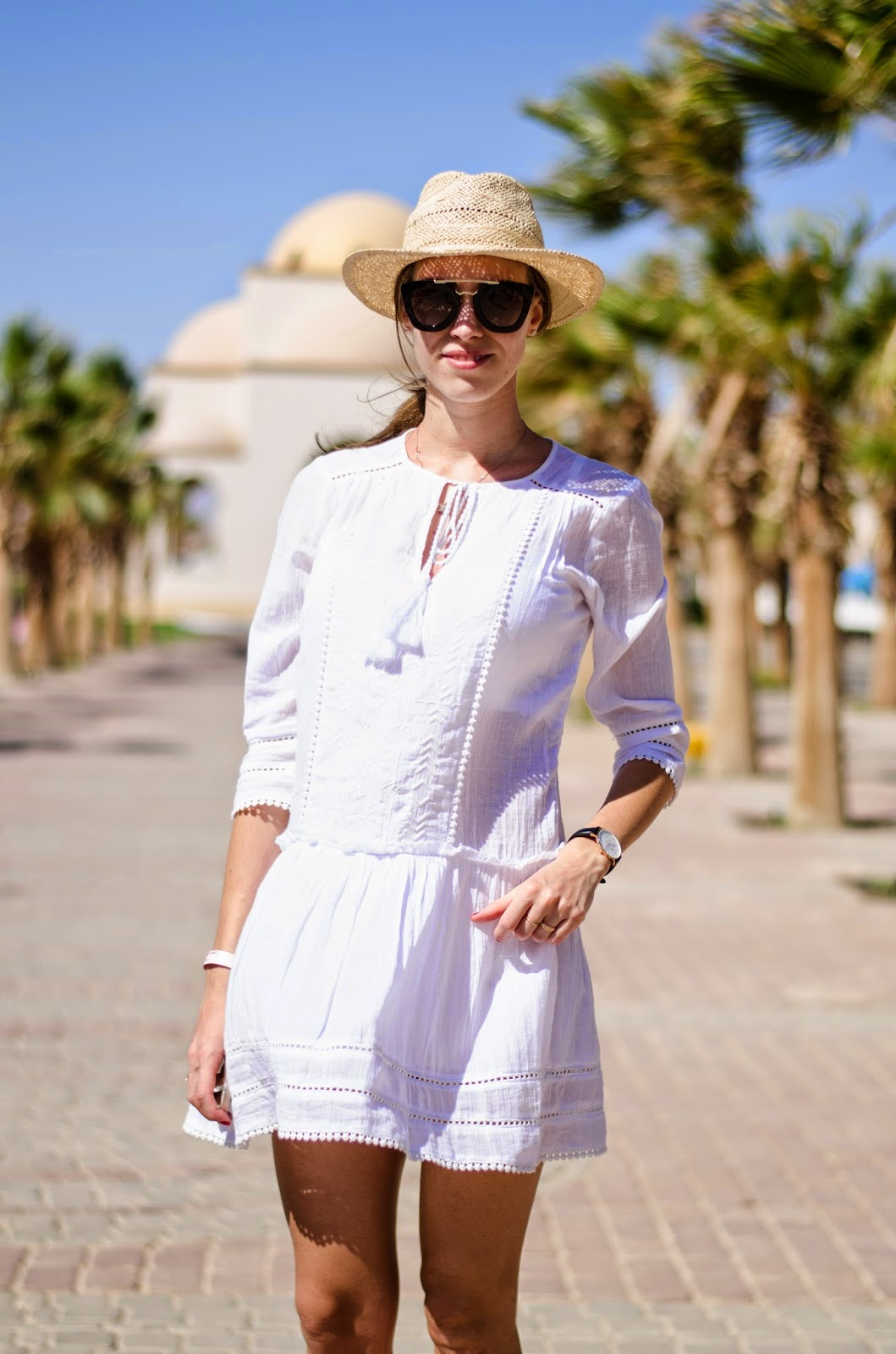 kristjaana mere white boho dress summer outfit