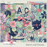 kit : Denim and Flowers by Lindsay Jane
