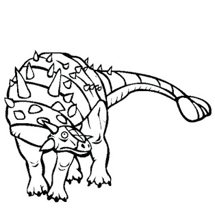 Printable Ankylosaurus Coloring Pages