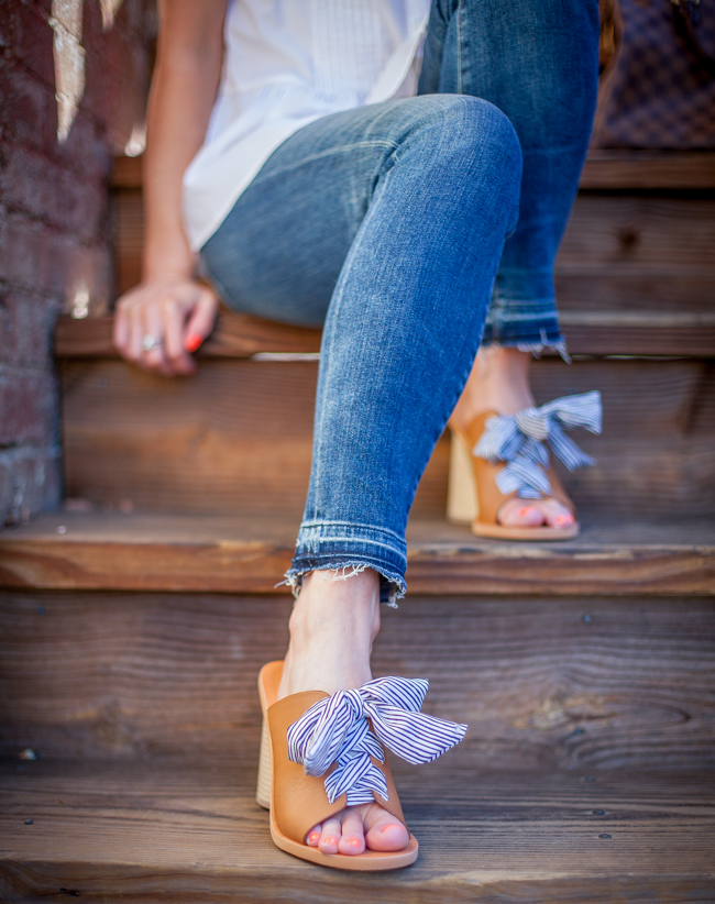 dolce vita heeled bow mules