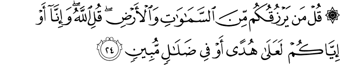 Surat Saba' Ayat 24