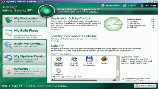 Kaspersky Antivirus 2010 Screenshot 2