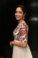 Ritu Varma smiling face Cream Anarkali dress at launch of OPPO New Selfie Camera F3 ~  Exclusive 032.JPG