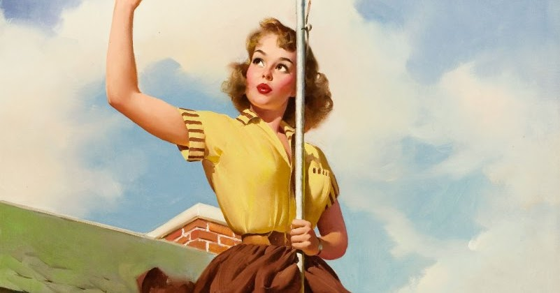 Pin up Girl Pictures: Gil Elvgren 1950's Pin Up Girls #3