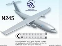 PT Dirgantara Indonesia Perkenalkan Pesawat N-245. Versi terbaru & lebih Canggih dari Pesawat CN235