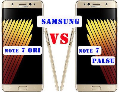 Samsung Note 7 Asli dan Palsu