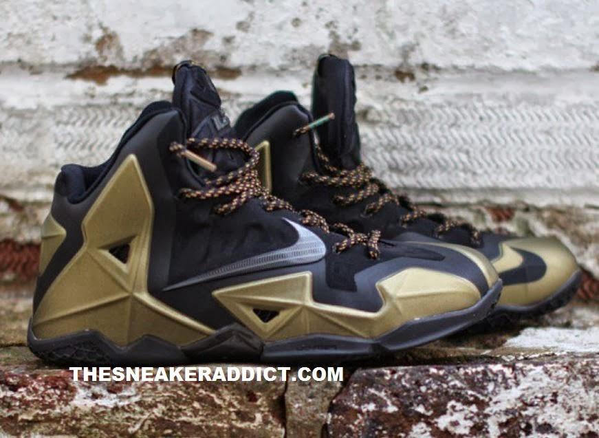 THE SNEAKER ADDICT: Nike Lebron 11 Black/Gold Sneaker XI ...Lebron 11 Customize Ideas