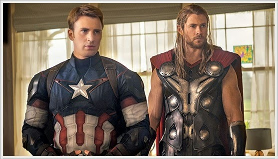 Captain America and Thor - Avengers : Age Of Ultron