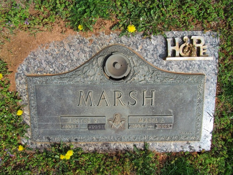 Lester R. and Mabel Marsh Tombstone Lynchburg, VA  http://jollettetc.blogspot.com