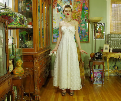 90s Jessica McClintok Lace Wedding or Prom Gown