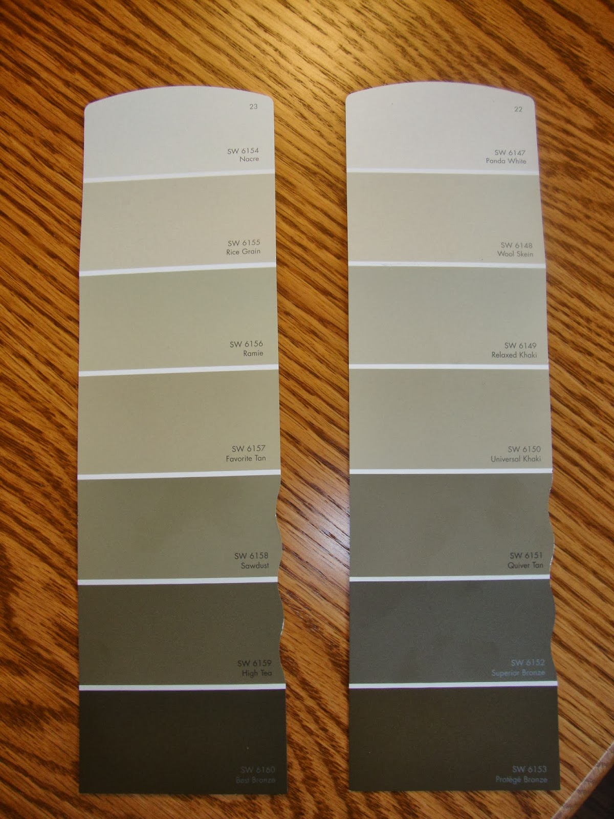 Honey And I Went Your Bought Some Sample Cans Of Colors That Spoke To Us From These Two Strips Here Are The