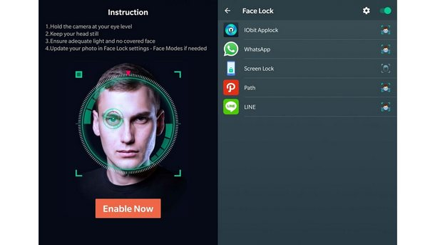 IObit Applock, Face Unlock
