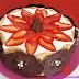 Tarta mousse de natillas de chocolate y fresa
