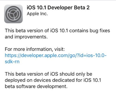 Apple has released the iOS 10.1 beta 2 software version with a build number 14B67 to developers for testing.
