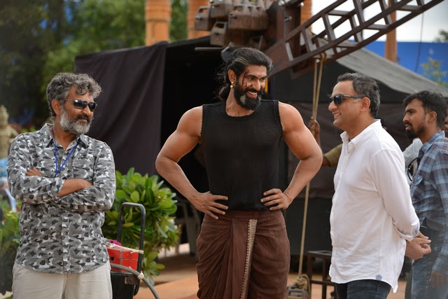 Baahubali 2 Working Stills for Press