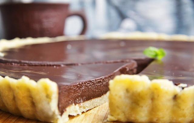 Невероятно вкусный шоколадный тарт
