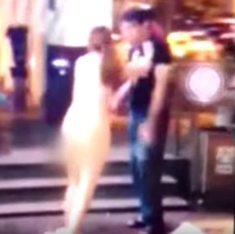 Was Girl stripped naked in public opinion obvious