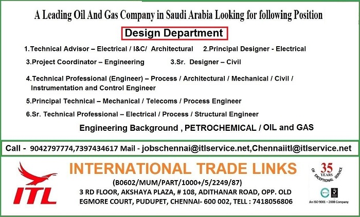 A Leading Oil & Gas Company looking for Experienced Engineers for