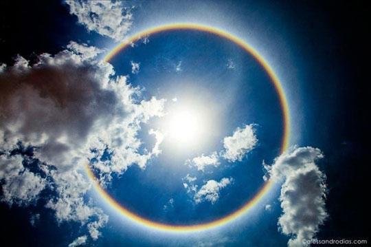 rainbow halo in brasilia brazil