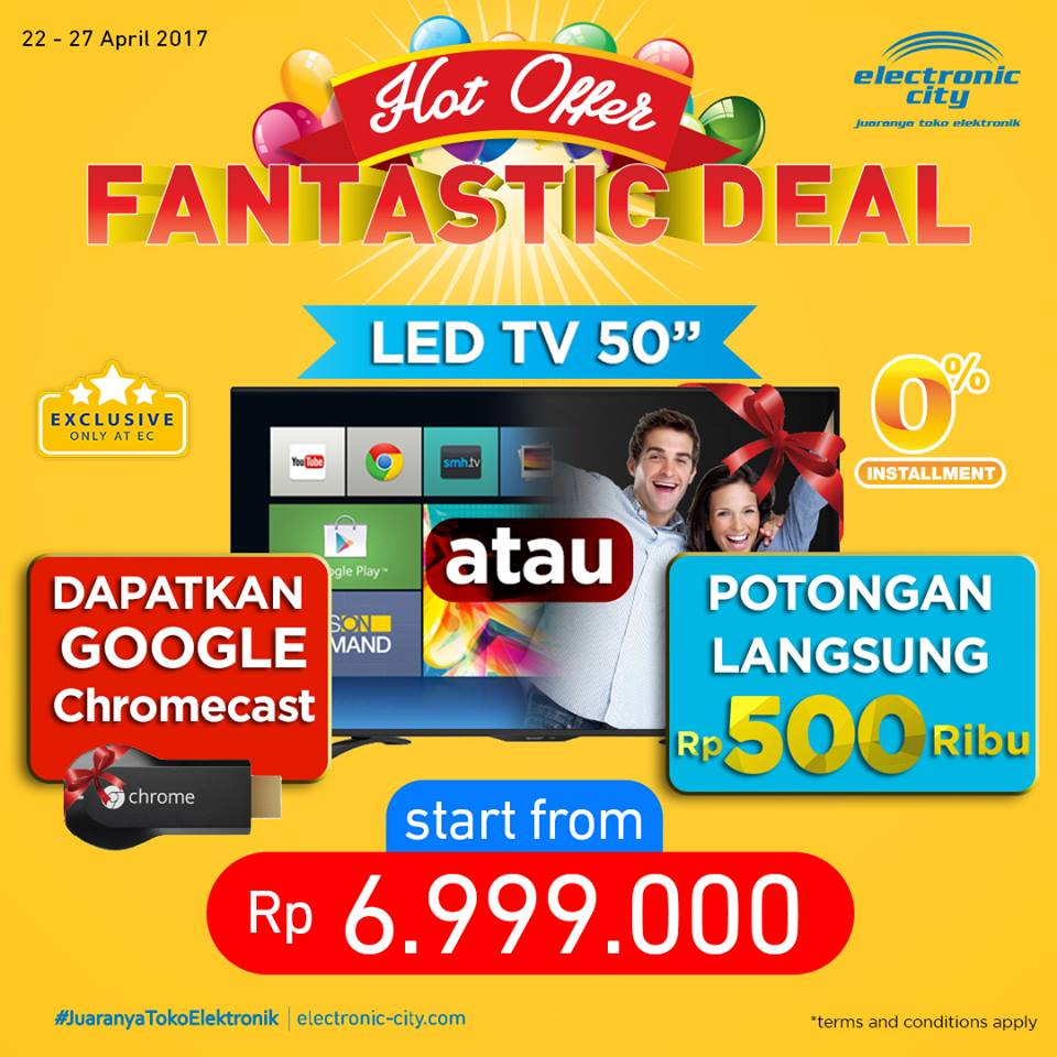 Electronic City Promo HOT OFFER Fantastic Deal 22  – 27 April 2017