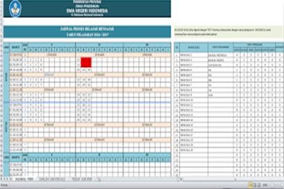 Aplikasi Jadwal Pelajaran Anti Bentrok SD,SMP,SMA,SMK terbaru