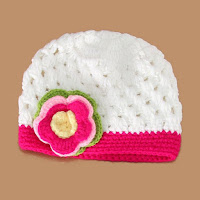 Stylish Multilayered Flower Shape Embellished Crocheting Knitted Hat For Kids - White