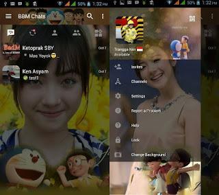BBM Mod Jannina Weigel With Doraemon 3D v3.0.1.25 CHGB Apk Terbaru
