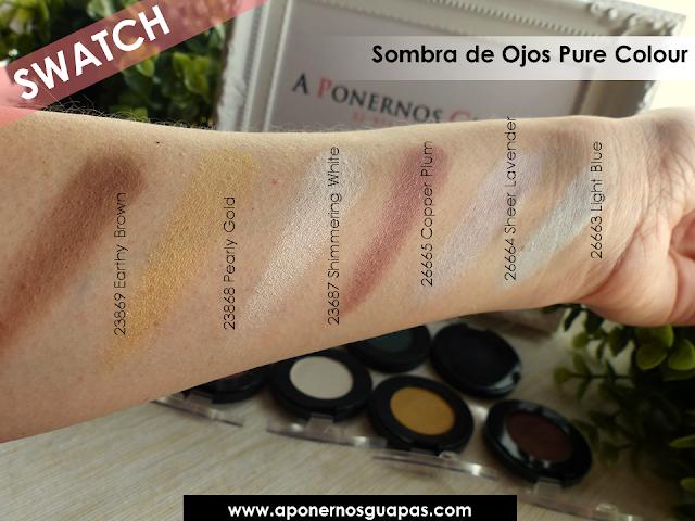 Swatch sombra de ojos Pure Colour Oriflame A Ponernos Guapas 2
