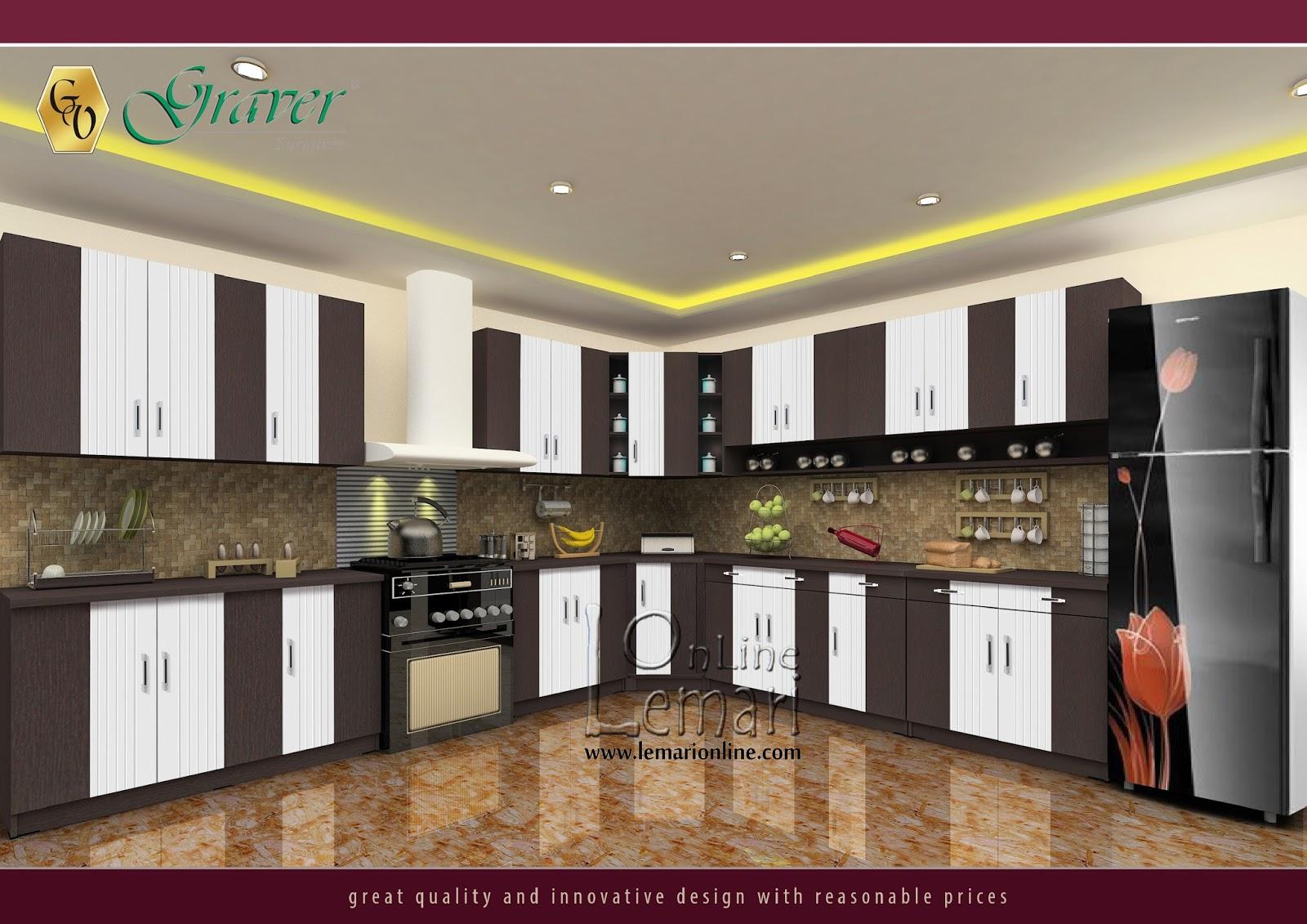 Minimalis, elegan, modernis adalah bentuk ungkapan estetika sudut dapur Anata