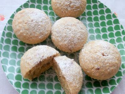 Muffinki owsiano - orzechowe z olejem rzepakowym