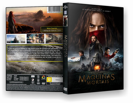 CAPA DVD – MAQUINAS MORTAIS DVDR – CINEMA