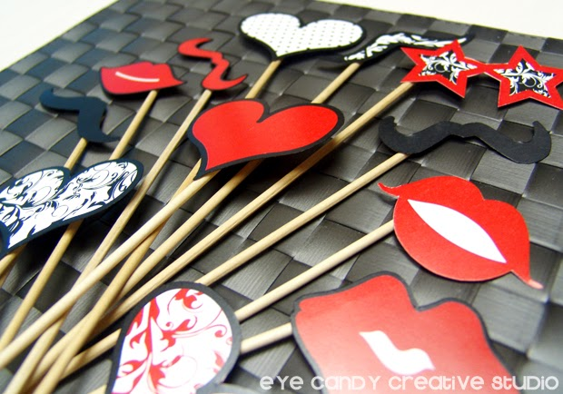 classroom photo props, lips photo prop, heart photo prop