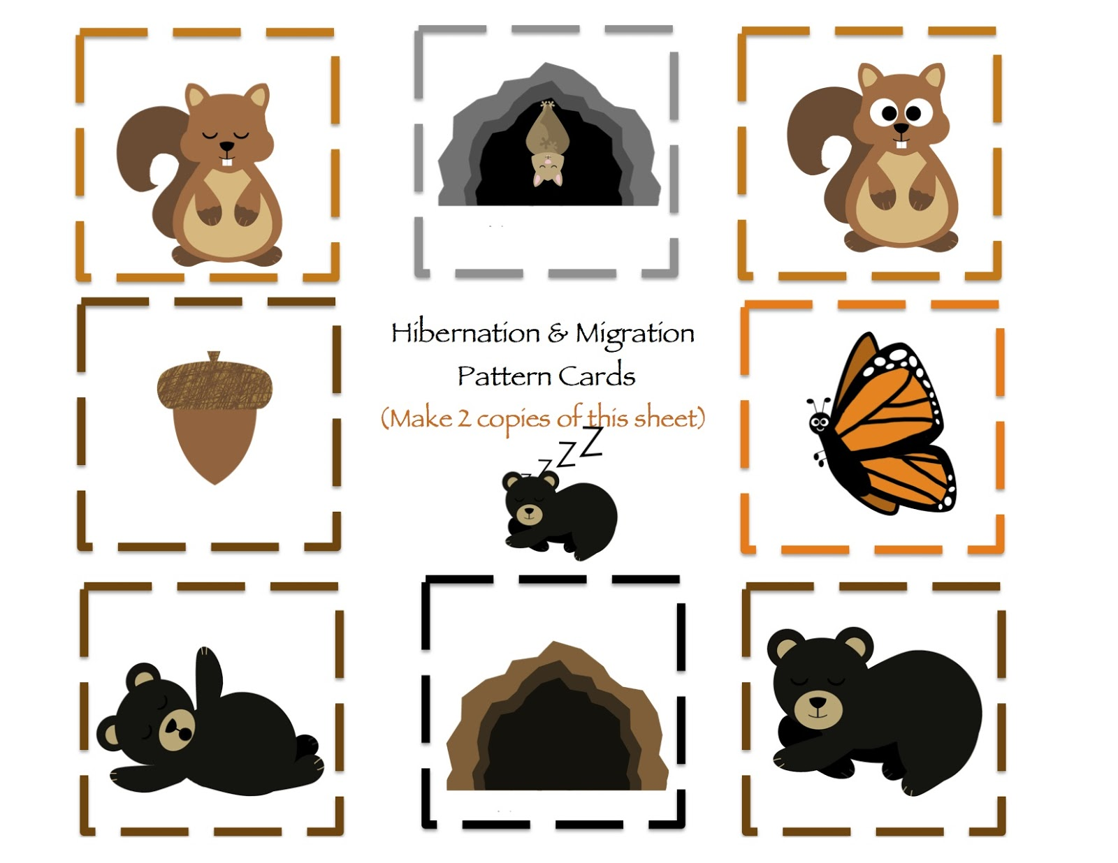 Hibernation migration printable preschool printables for Hibernation crafts for preschool