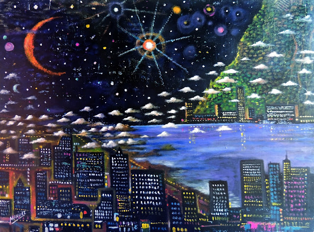Obra de arte en venta Manuel Carmona: pintura bahía