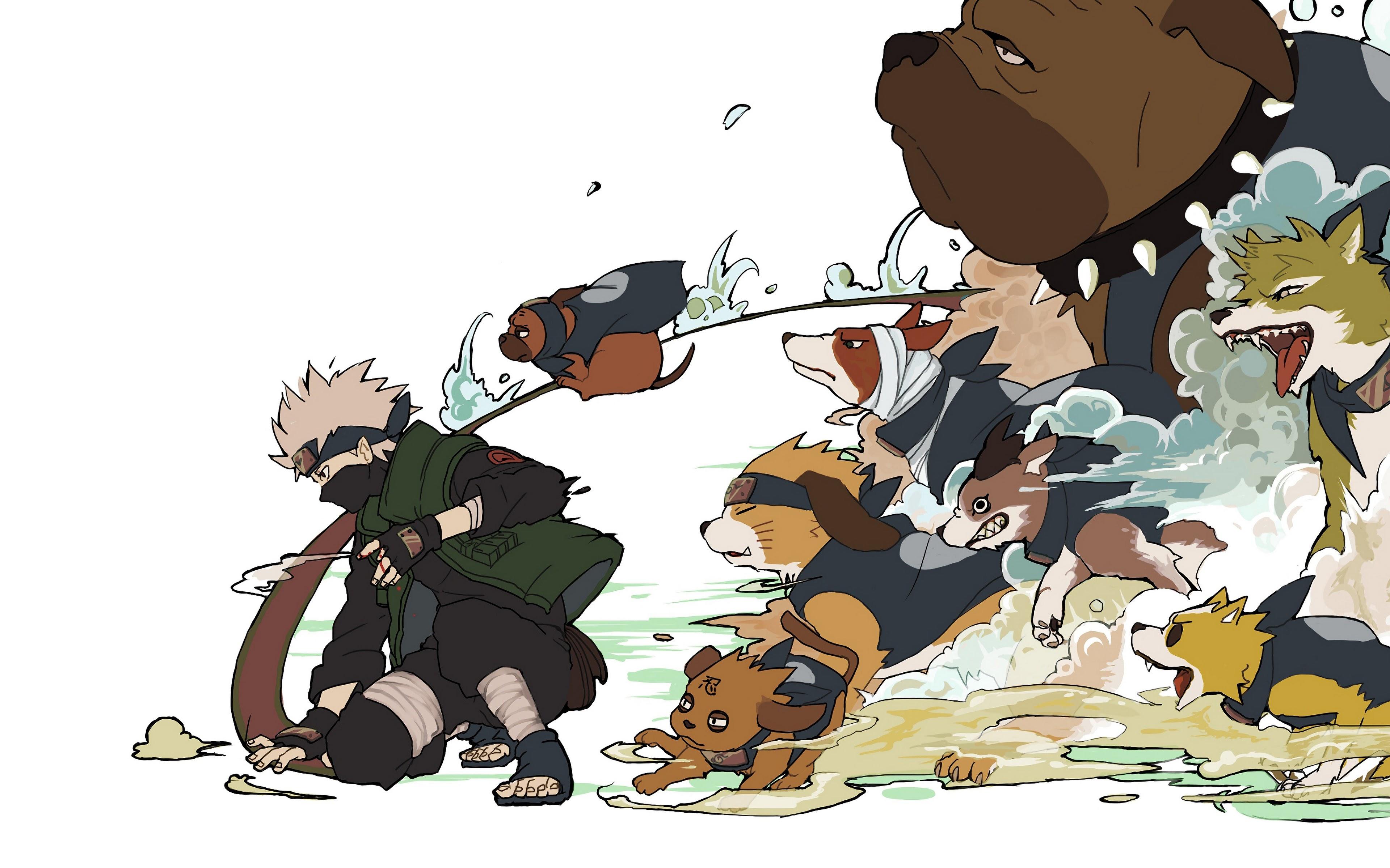 kakashi dogs summon uhdpaper.com 4K 21