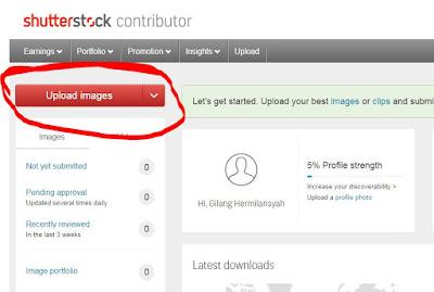 Cara upload Shutterstock Kontributor