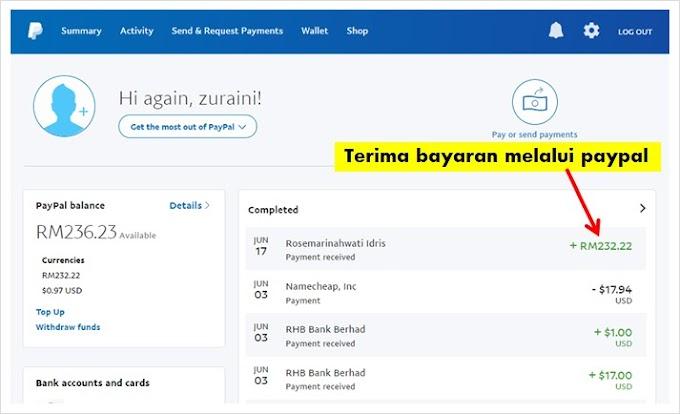 CARA WITHDRAW PAYPAL KE BANK MALAYSIA