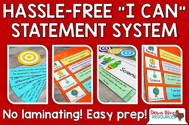 "This hassle-free system allows teachers to display daily or weekly ""I Can"" Statements or Daily Learning Targets with ease!"
