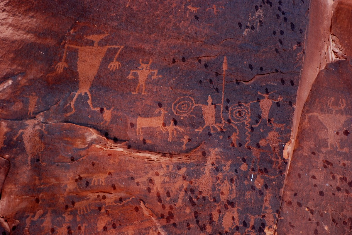 Petroglyphes du ranch Wolfe, Arches National Park