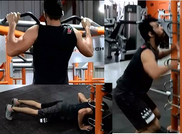 Push ups pull ups jump saltos dominada flexiones brazo