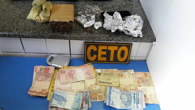 PM prende dois suspeitos de tráfico de drogas em apenas um dia, em Alagoinhas