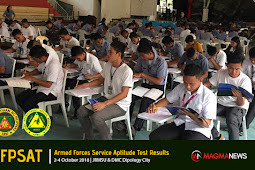 AFPSAT Results 2-4 Oct 2018 at Dipolog City