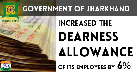 Jharkhand-dearness-allowance-6percent-hike