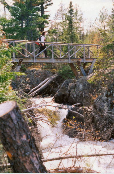 Agamok Bridge, North Country Trail, Kekakabic Trail