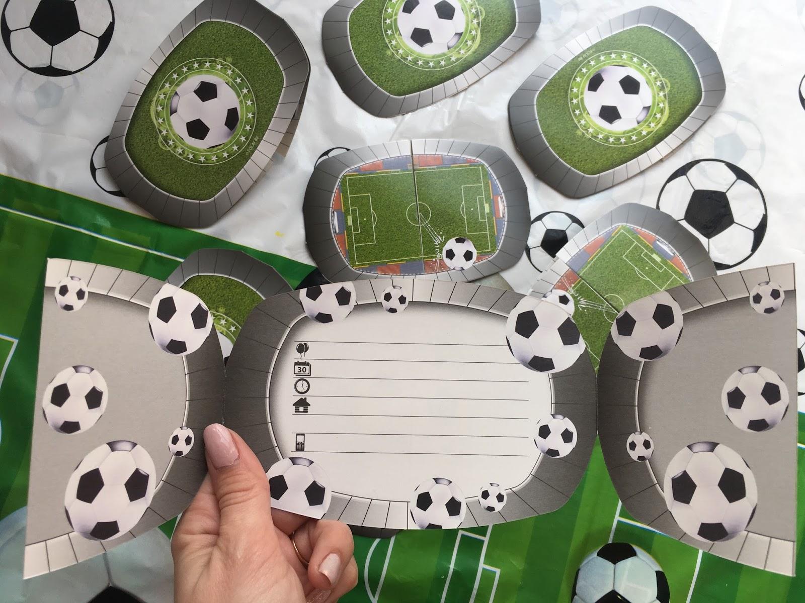 zaproszenia piłkarskie