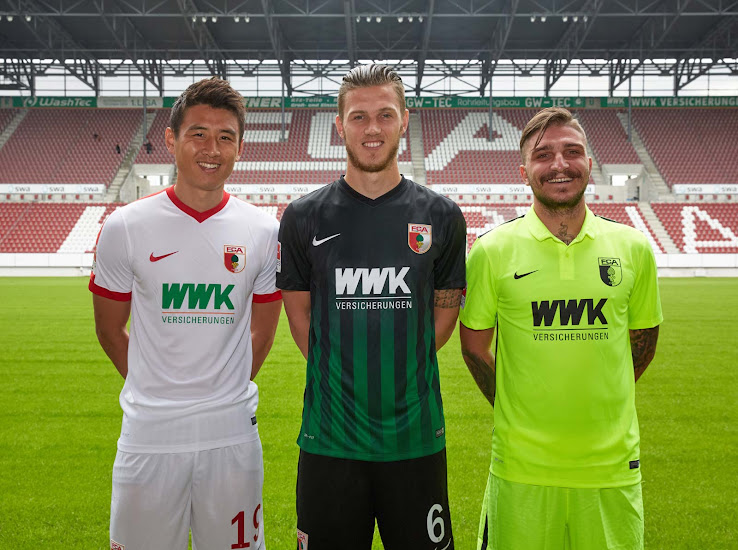 07dada097 This image shows the new Nike FC Augsburg 2016-17 home