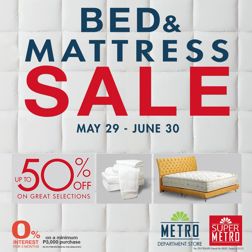metro bed mattress sale may june 2015 - Bed And Mattress Sale