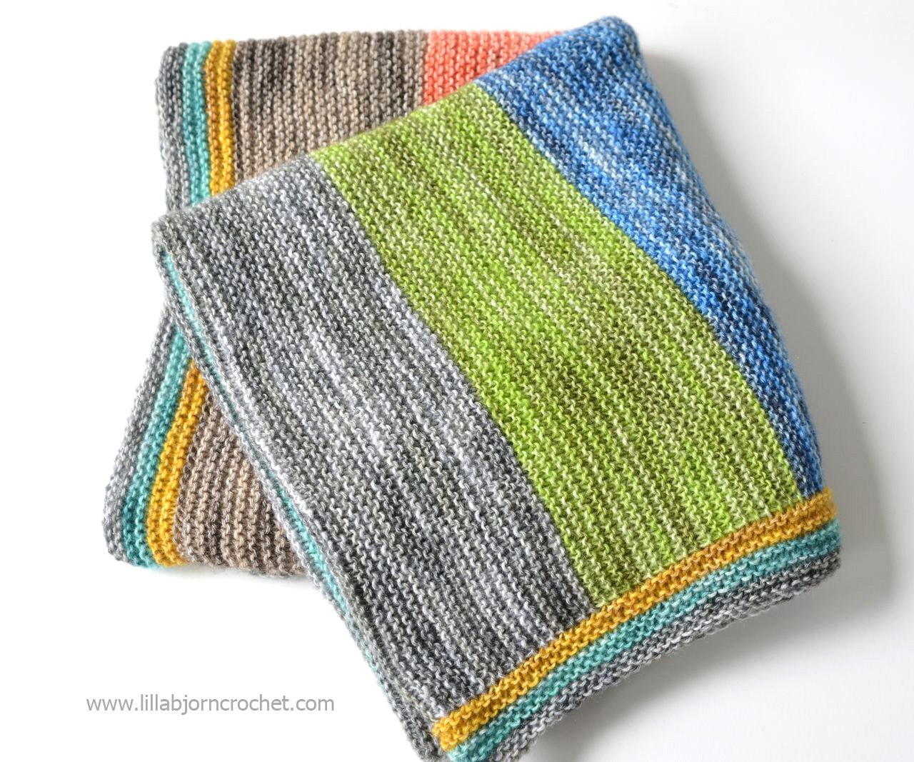 Spirit Baby Blanket - super easy and FREE  knitting pattern by Lilla Bjorn crochet