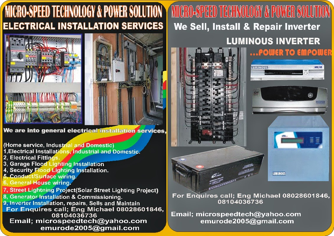 Inverter And Solar Expert In Nigeria Street Light Energy Empower Wiring Diagram Micro Speeds Technology Power Solution